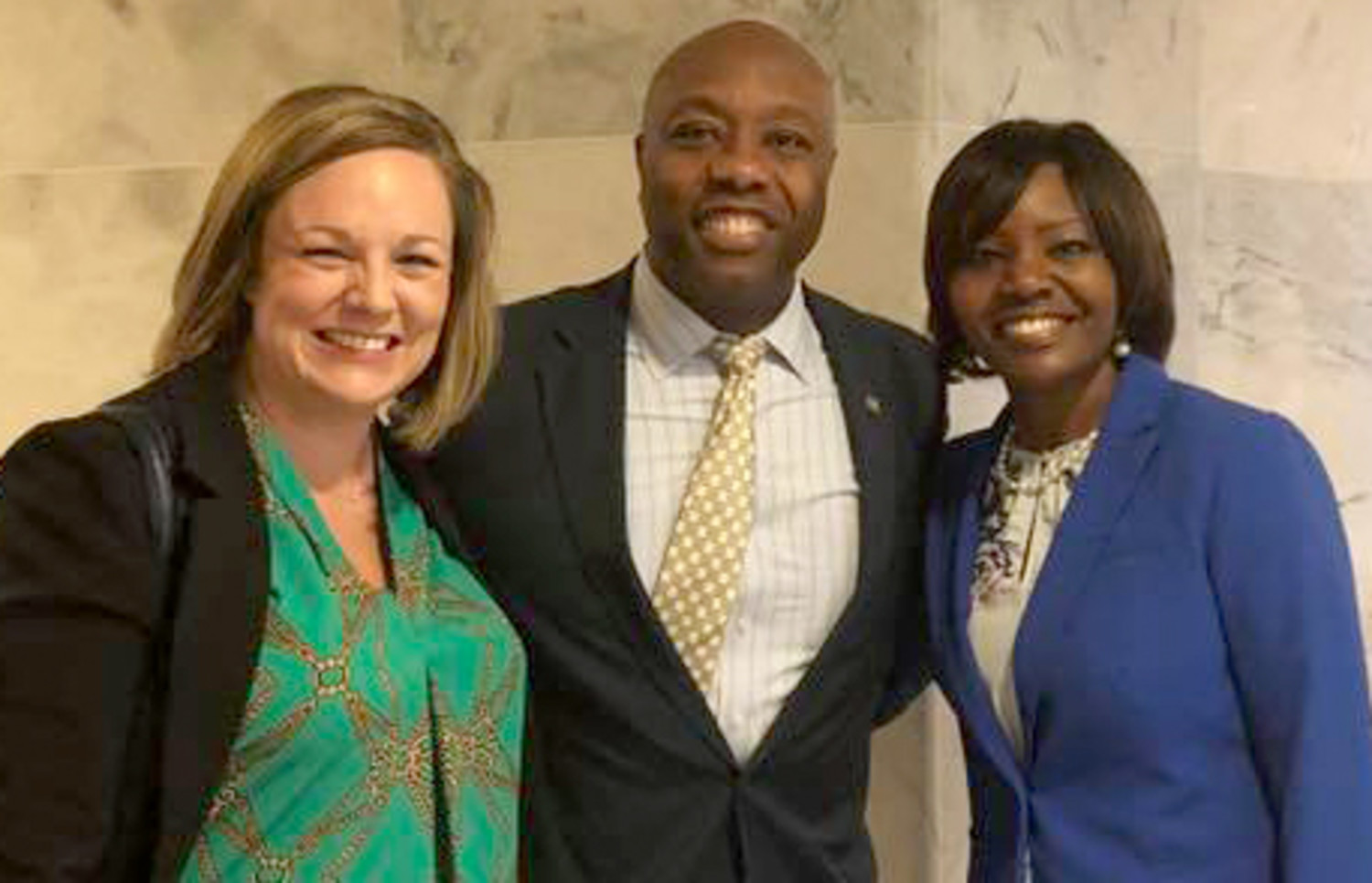 Cutline: U.S. Sen. Tim Scott meets with Tiffany Straus, left, HopeHealth Director of Communications, and Kimberly O. Johnson, right, Director of Legislative Affairs, during their recent visit to Washington D.C. with the South Carolina Primary Health Care Association. Scott is one of nine South Carolina delegation representatives the SCPHCA met with to discuss the importance of health centers and to bring attention to the health care needs of our state.