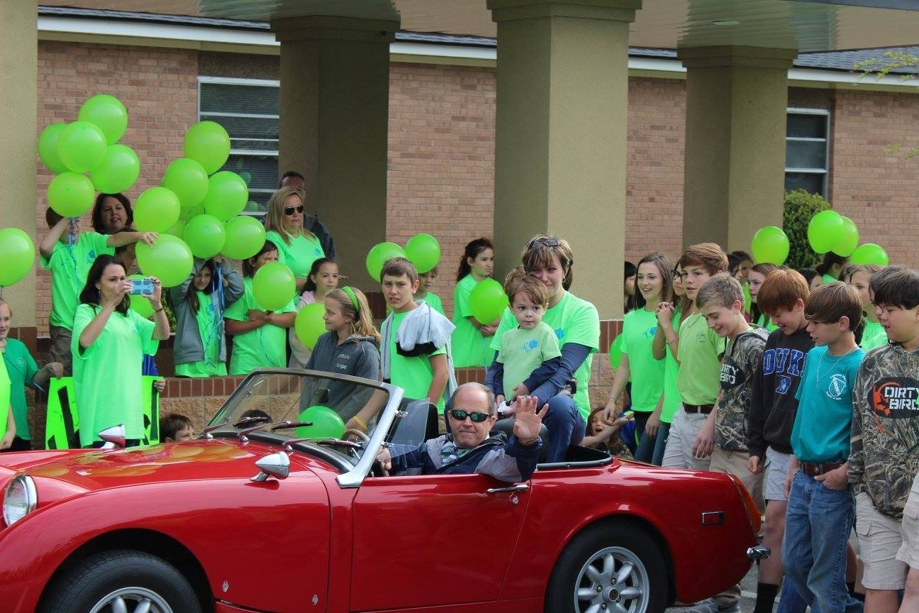 James Smith and his mother, Holly Smith, ride 