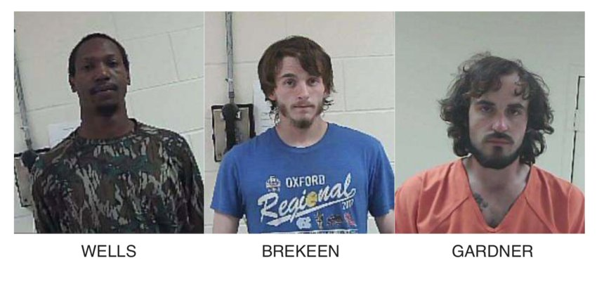 Three men are in custody in connection with a string of 18 felonies committed in Neshoba County the last week or so including one at the Philadelphia Country Club.