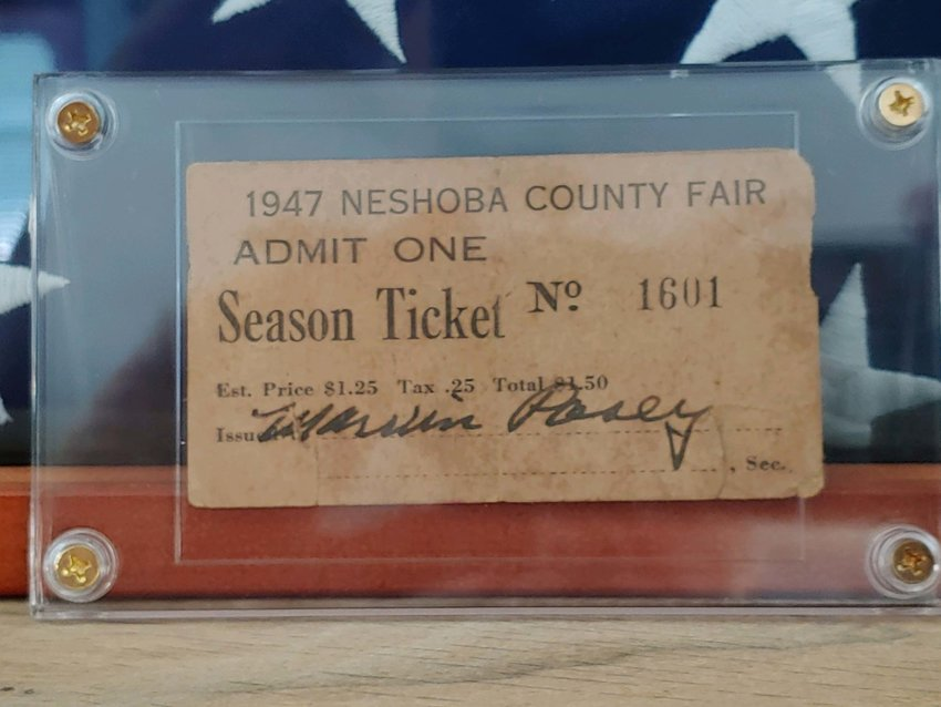 "The cost of a season ticket to the 1947 Neshoba County Fair was only $1.50 — including tax. Former Neshoba resident Leonard ""Lenny"" Warren, who now lives in Pennsylvania, recently found this treasure cleaning out a house owned by his late brother Steve."
