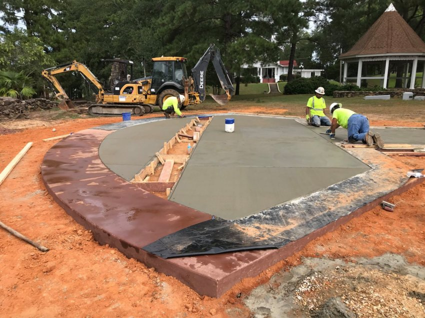 Work continues on the Fallen Veterans Monument at DeWitt DeWeese Park that officials hope to have ready for dedication on Veterans Day which is Nov. 11.