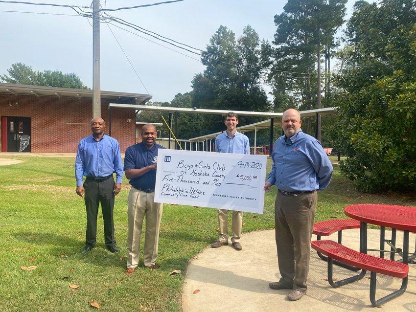Philadelphia Utilities partners with TVA to donate $5,000 to the Boys and Girls Club of Neshoba County.