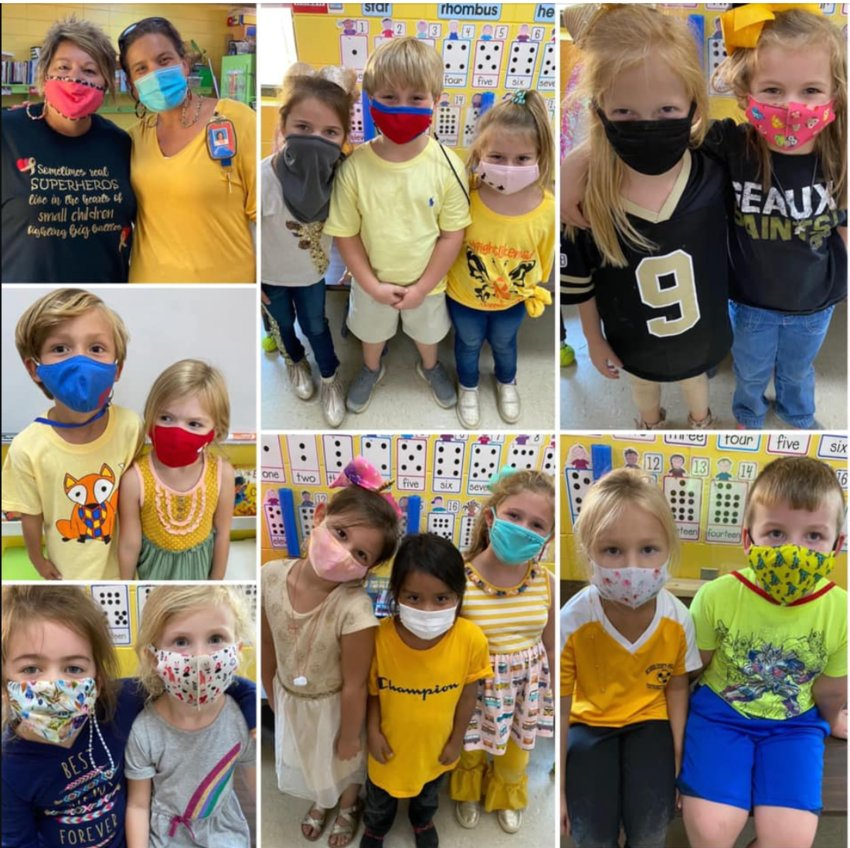 The Friendly Fish class at Neshoba Central honored those who have or are fighting childhood cancer by wearing gold.