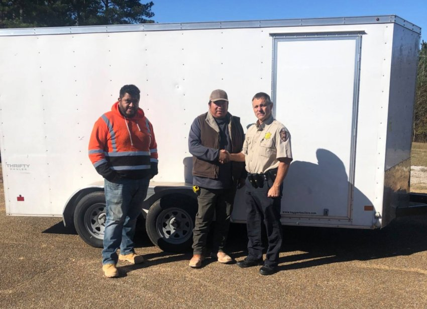 A construction trailer recovered by the Neshoba County Sheriff's Office has been returned to its owners.