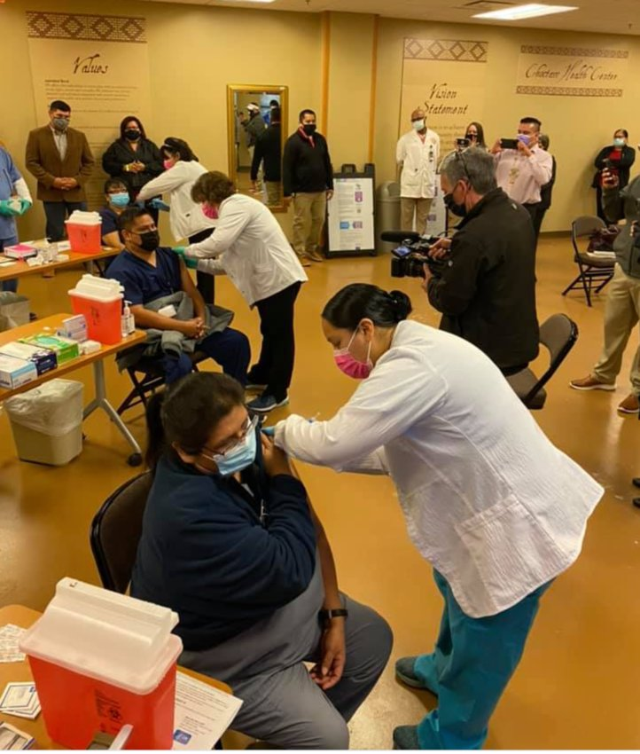 The first three COVID-19 vaccines were administered at Choctaw Health Center late last year. Vaccinations will be administered on Friday.