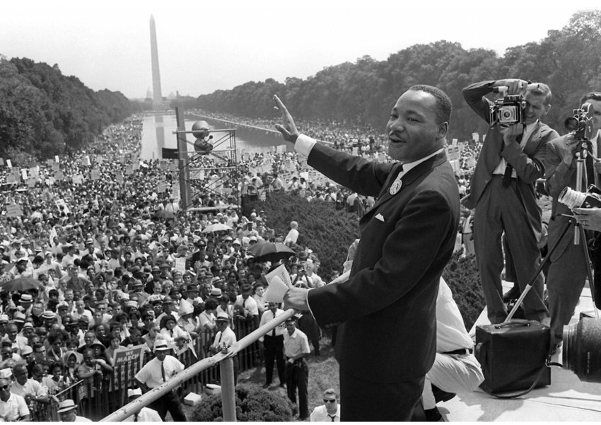 """Dr. Martin Luther King, Jr., delivered his now-famous """"I Have a Dream"""" speech at the Lincoln Memorial on Aug. 28, 1963. A national holiday on Monday marked Dr. King's birthday and his sacrificial role in bringing about more racial equality in America."""