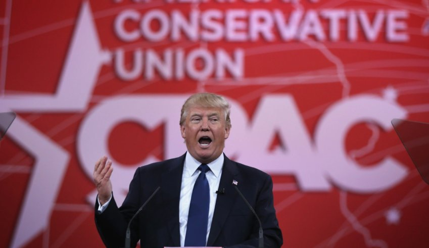 Former President Trump at the Conservative Political Action Conference (CPAC) on. Feb. 28 in Orlando.