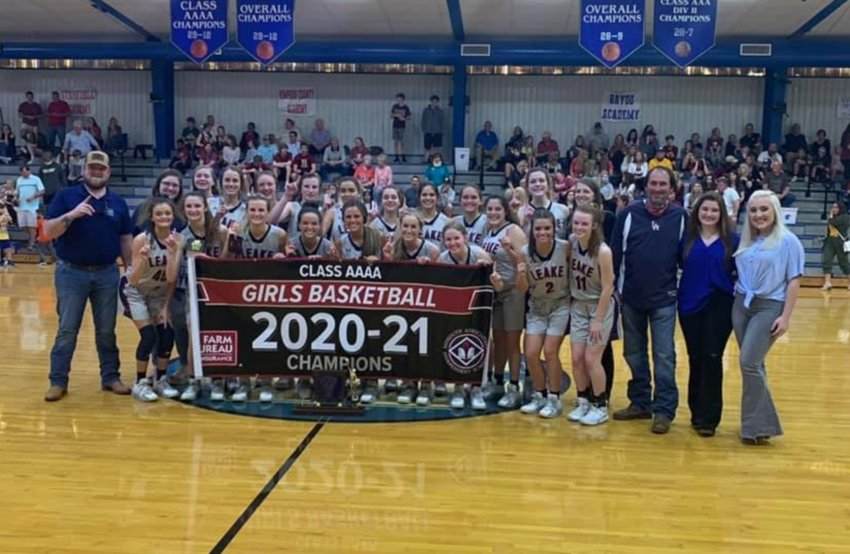 Leake Academy captured the MAIS 4A girls basketball championship Saturday, beating Hartfield Academy 82-45.