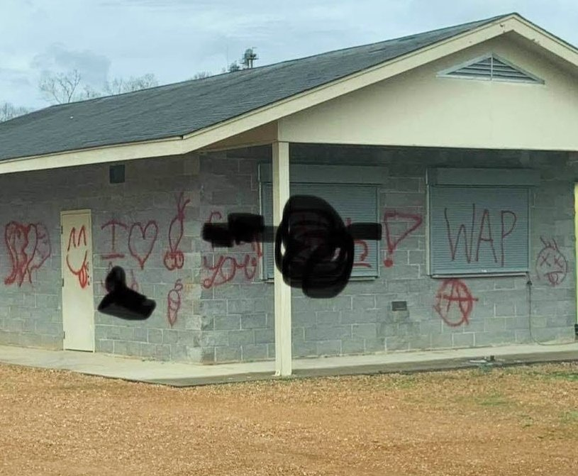 Philadelphia police are investigating lewd graffiti painted one of the concession stands at Northside Park.