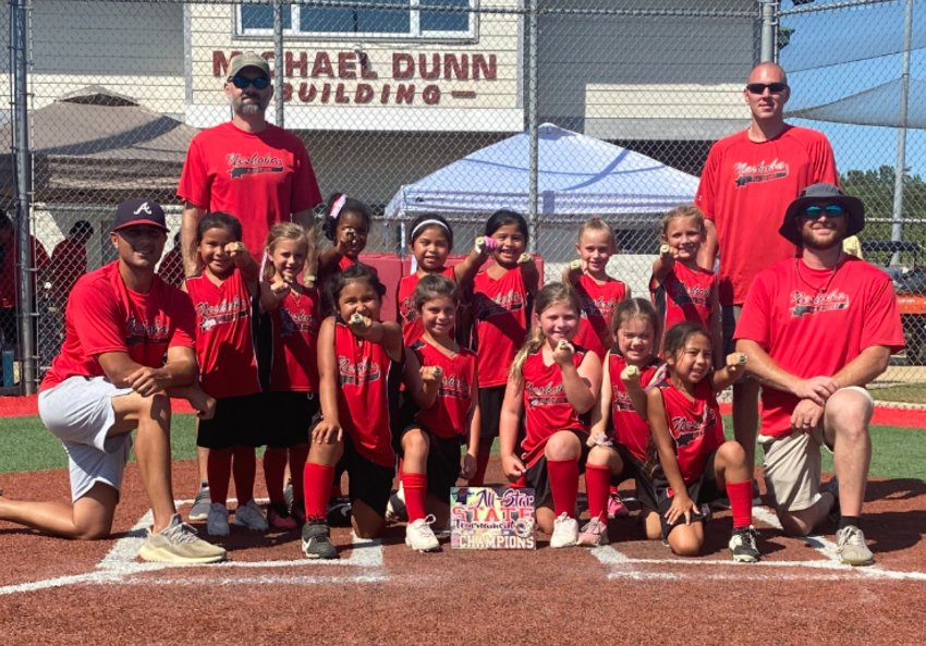 Pictured, left to right, (Front row) Cole Cremeen, Bailee Frazier, Hallie Cockrell, Brooklyn Jones, Miles Owen, Jazelle Bell, Michael Smith (Back row) Bema Reynolds, Chris Owen, Carsyn Cremeen, Lakelyn Boler, Keilani Gibson, Leilee Wallace, Savanna Klootwyk, Cassidy Chamblee, and Chris Klootwyk