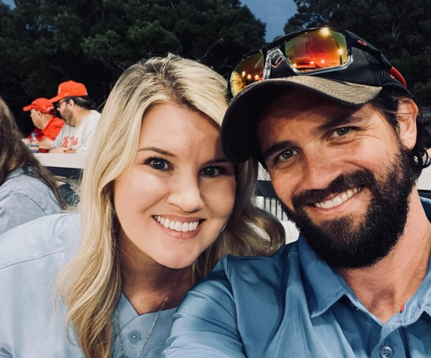 Ashton Agent Tucker and her now late husband Robby Tucker. Robby was killed in a cycling accident earlier this month while training for the Heart O' Dixie Triathlon.