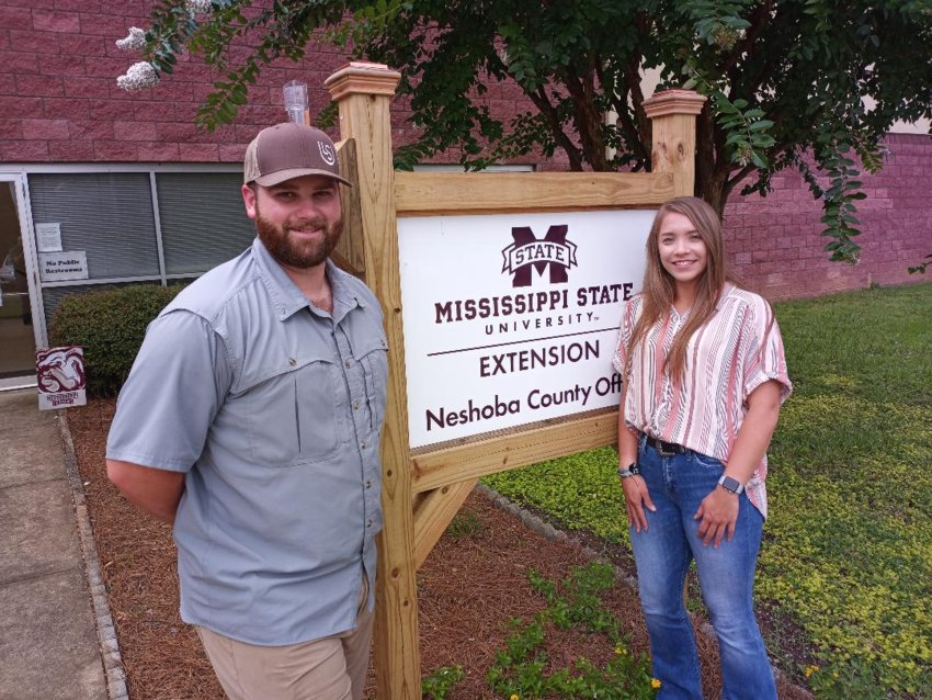 Chris Domingue, left, and Anna Windham are the new agents for the Neshoba County Extension Service.