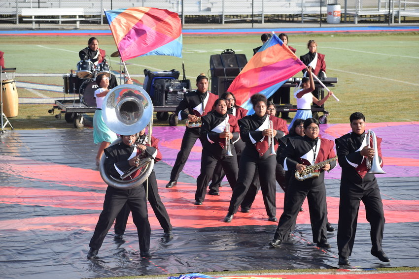 Choctaw Central High School Band and color guard team members performed with 28 other schools this past Saturday at Neshoba Central in a state marching competition.