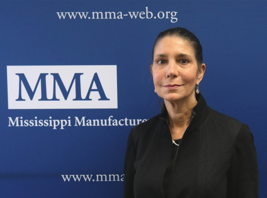 Pat Thomasson, CEO of the Thomasson Company in Philadelphia, was named the Mississippi Manufacturers Association's chair of the board on Tuesday, making her the first woman to serve in the position.