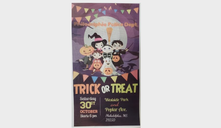 As part of their Halloween night enforcement, Philadelphia Police will be at Westside Park and at the corner of Poplar Avenue and Main Street handing out candy.
