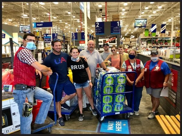 Tristin Prince and her family are all smiles after a recent trip to Lowe's in Philadelphia where they were given supplies to respond to Hurricane Laura.