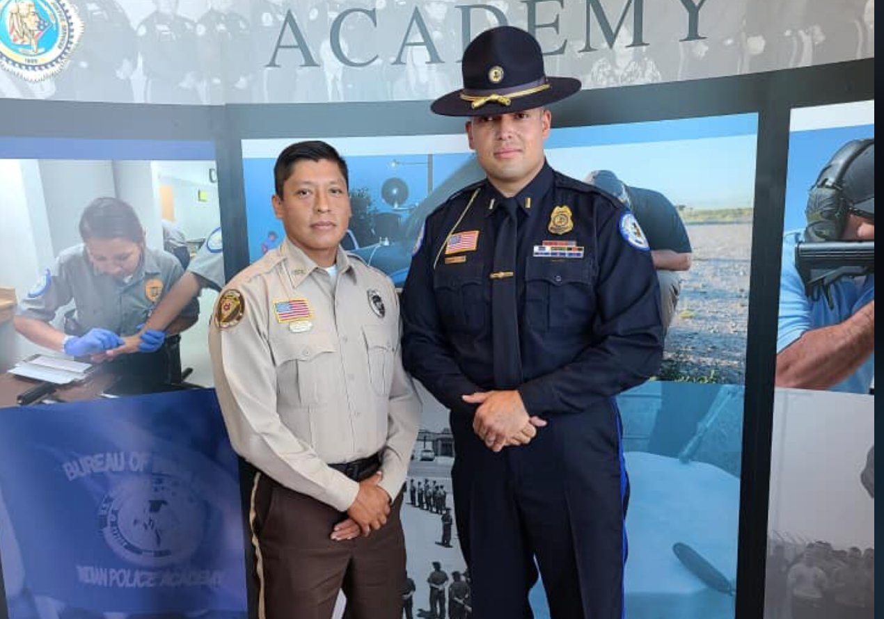 Congratulations!!  Wildlife and Parks Officer Jason Murray graduated from the United States Indian Police Academy at the Federal Law Enforcement Training Center in Artesia, New Mexico.