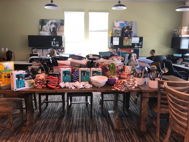 K9s For Warriors, of Ponte Vedra Beach, furnished new goods and supplies for the Clara White Mission women veterans facility in Jacksonville.