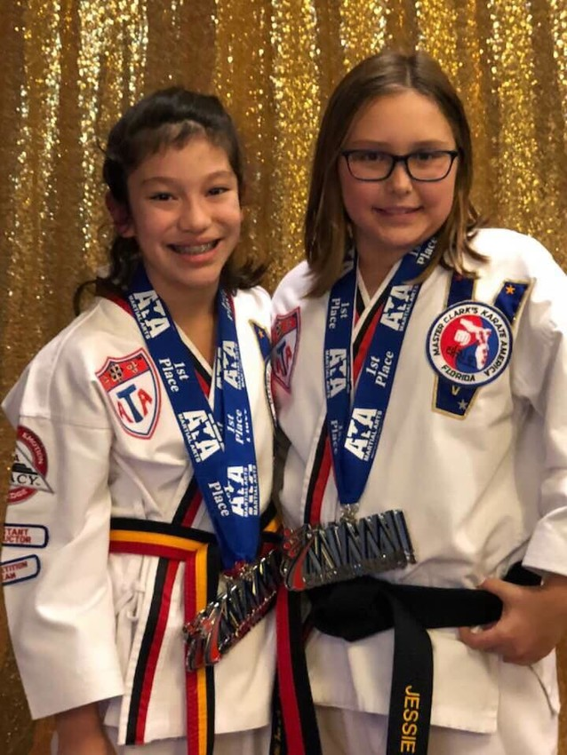 Ponte Vedra Beach black belts Lilly Sonn and Jessie Miller have accumulated significant success during the opening six weeks of the karate season.