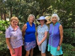 Third-place finishers Lorry McCamey, Peggy Reale, Dottie Hall and Pat Hickerson