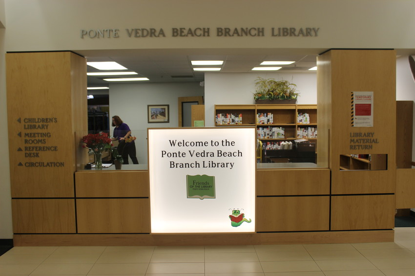 The Ponte Vedra Beach Branch Library is temporarily closing to replace the building's fire suppression system.