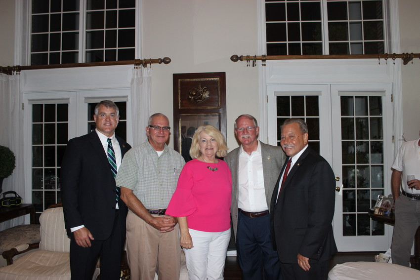 St. Johns County Sheriff's Office Undersheriff Matt Cline (from left), Dale Westling, Janet Westling, Congressman John Rutherford and 7th Judicial Circuit State Attorney R.J. Larizza gather at a fundraiser for Rutherford on Sept. 24 at the Westling residence in Sawgrass Country Club.
