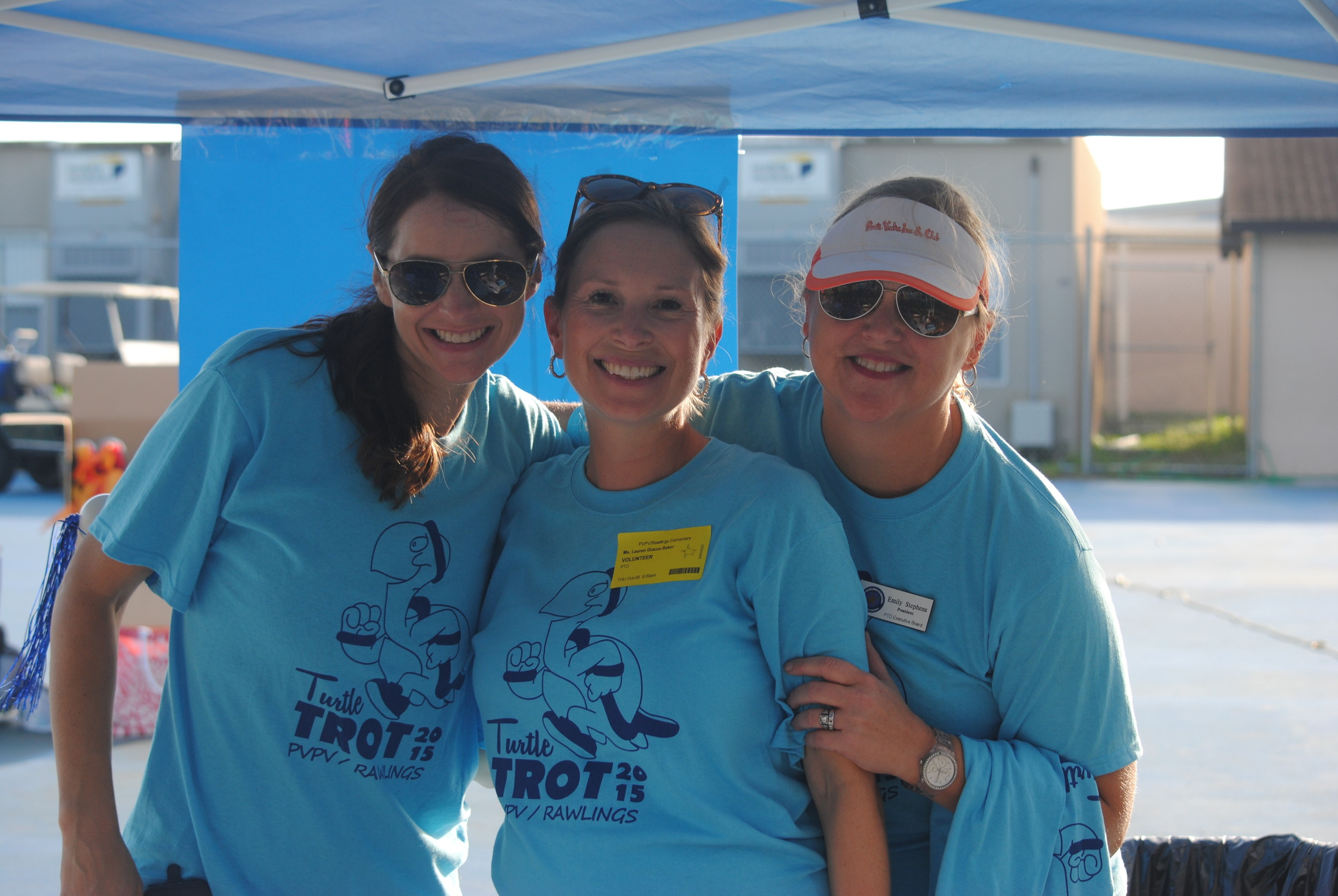 Turtle Trot Co-Chairs Holly Smith and Lauren Baker, and PTO President Emily Stephens.