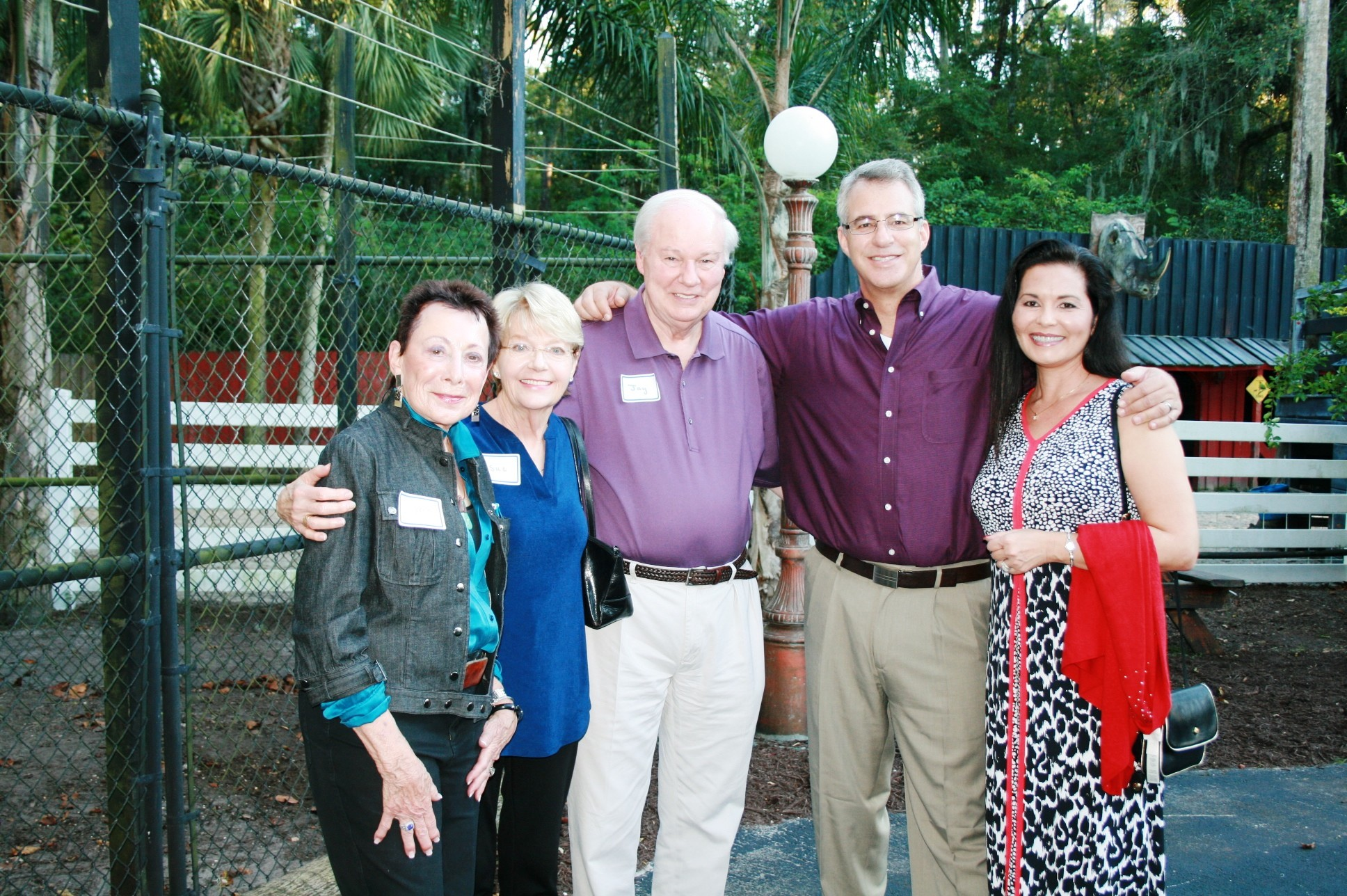 from left; Daryl Barker, St. Johns County Board of County Commissioner Jay Morris and wife Sue Morris, Scott Nelowet - Fantasy Farms Vice President of Marketing