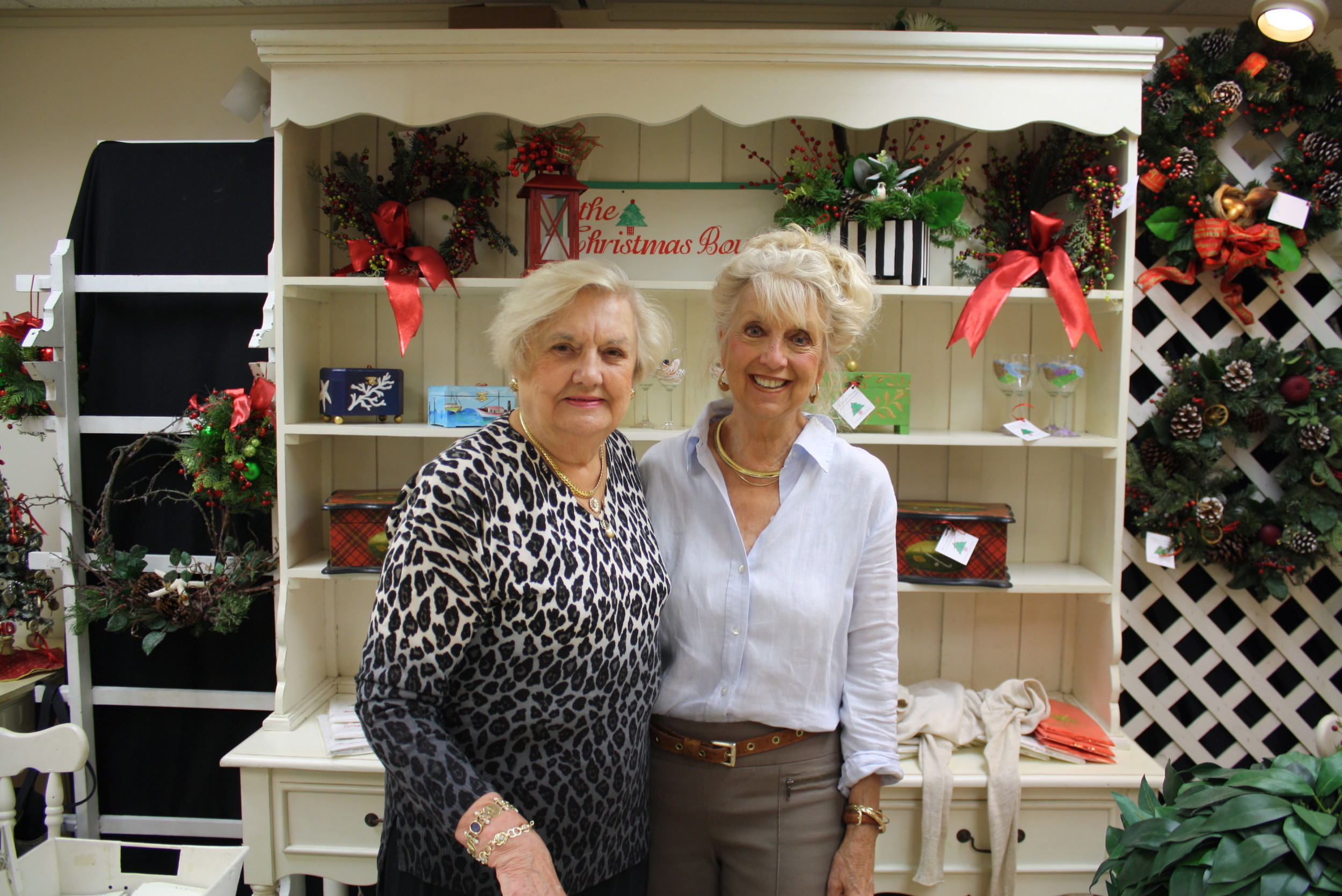 anet Wilson, a Board member and Brenda Ward, volunteer and longtime supporter of the Cultural Center.  Wilson donates all proceeds from her Holiday Shoppes booth back to the Cultural Center.