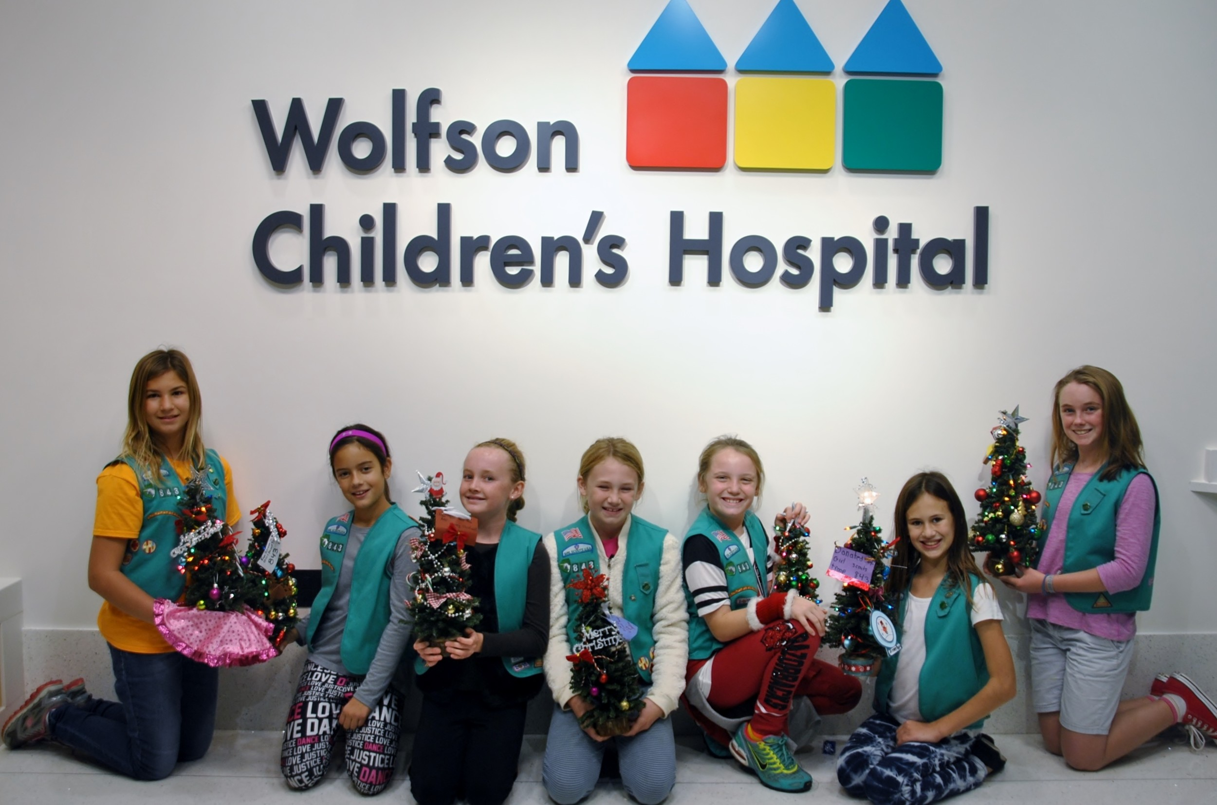 Girl Scouts Wolfson's Tree Delivery