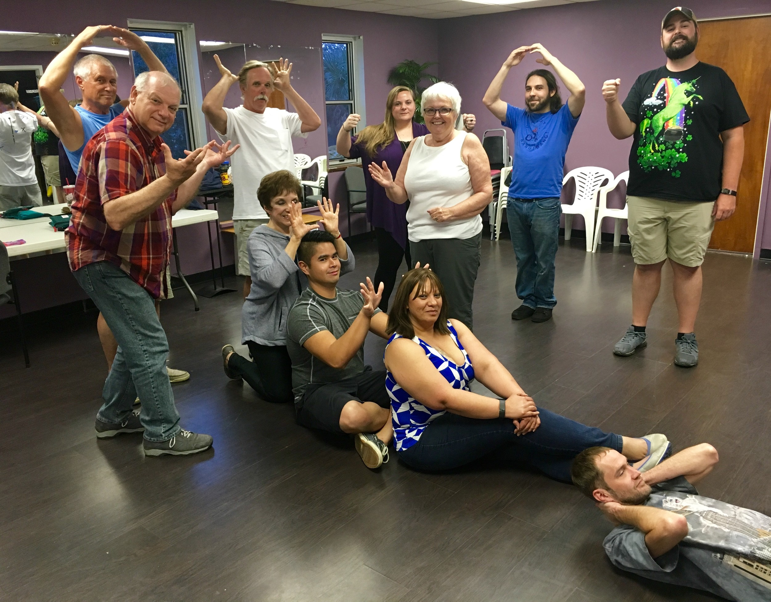 Angelilli's adult improv acting students