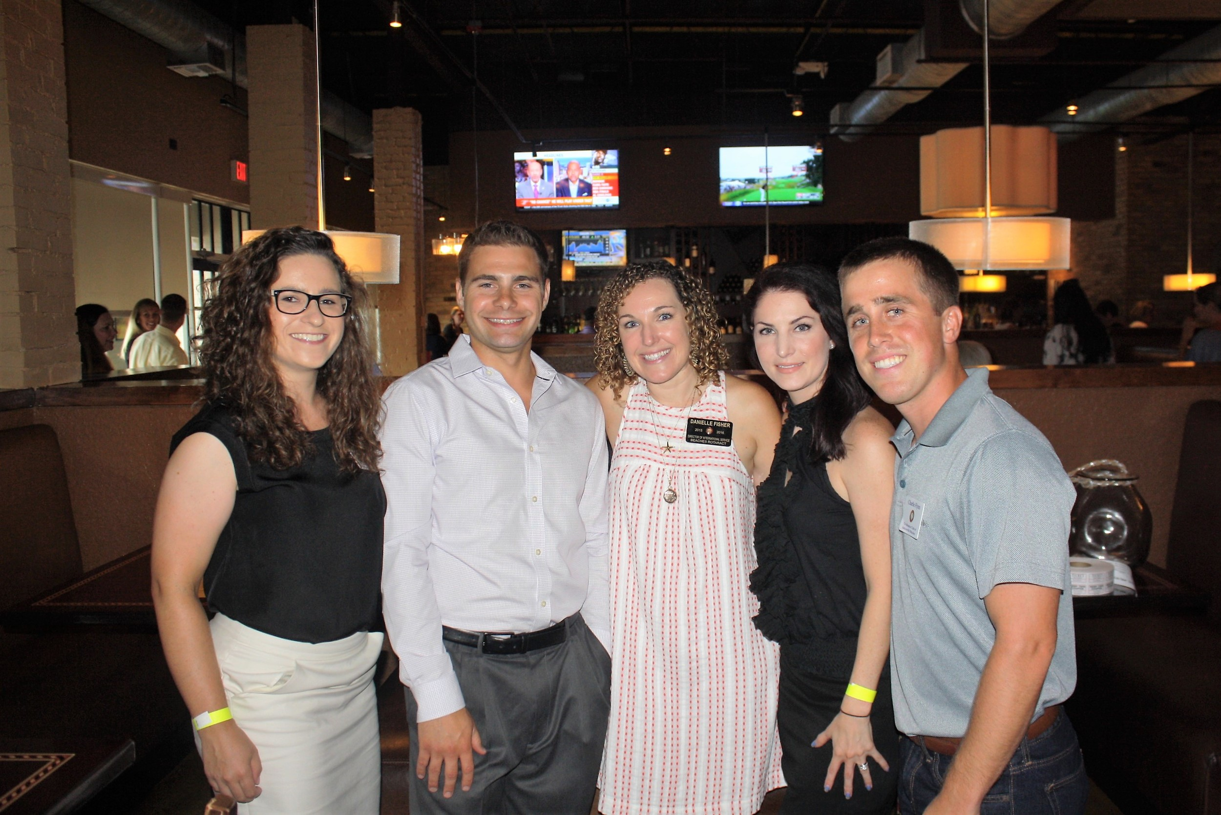 Beaches Rotaract wine tasting committee members included Magda Cichon, Anthony Sifakis, Danielle Fisher, Rachael Daven and Charlie Flynn.