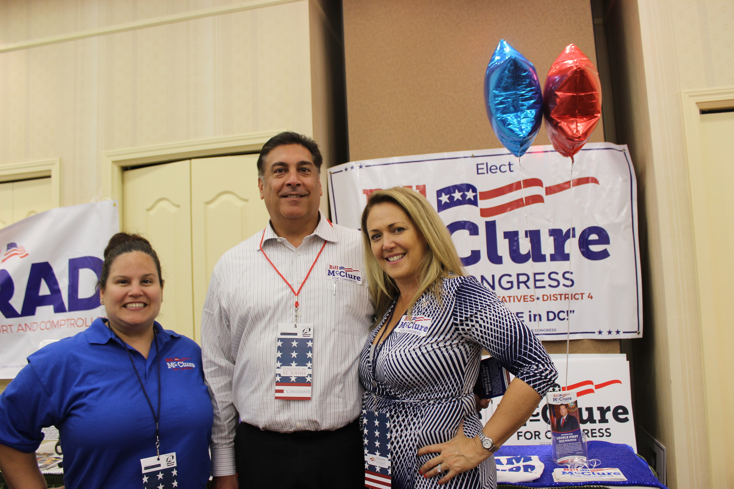 Elizabeth Granite-Amato, County Commissioner – and 4th Congressional candidate – Bill McClure and Kim McClure
