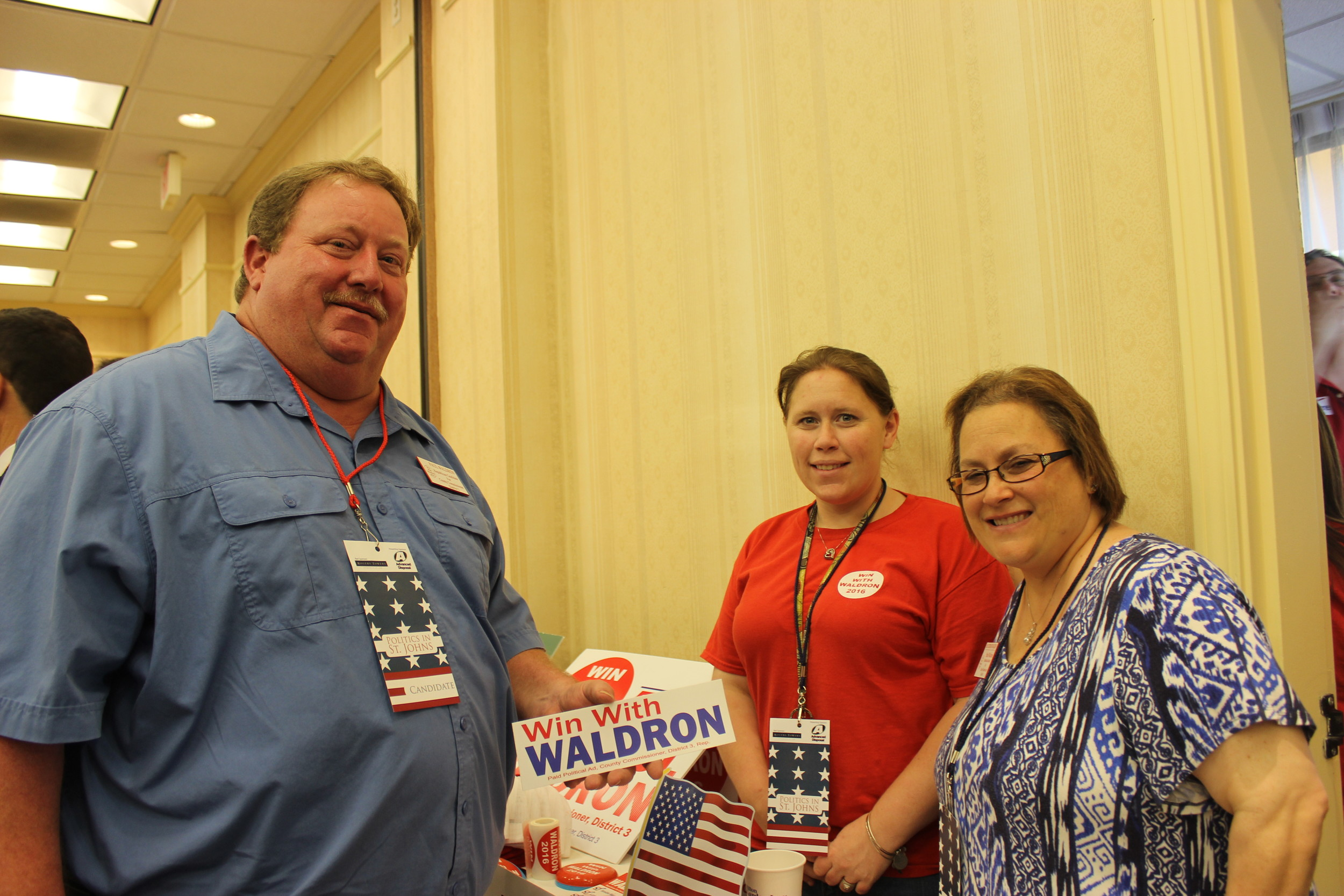County Commission Candidate (District 3) Paul Waldron, Ashley Zapata and Stephanie Waldron
