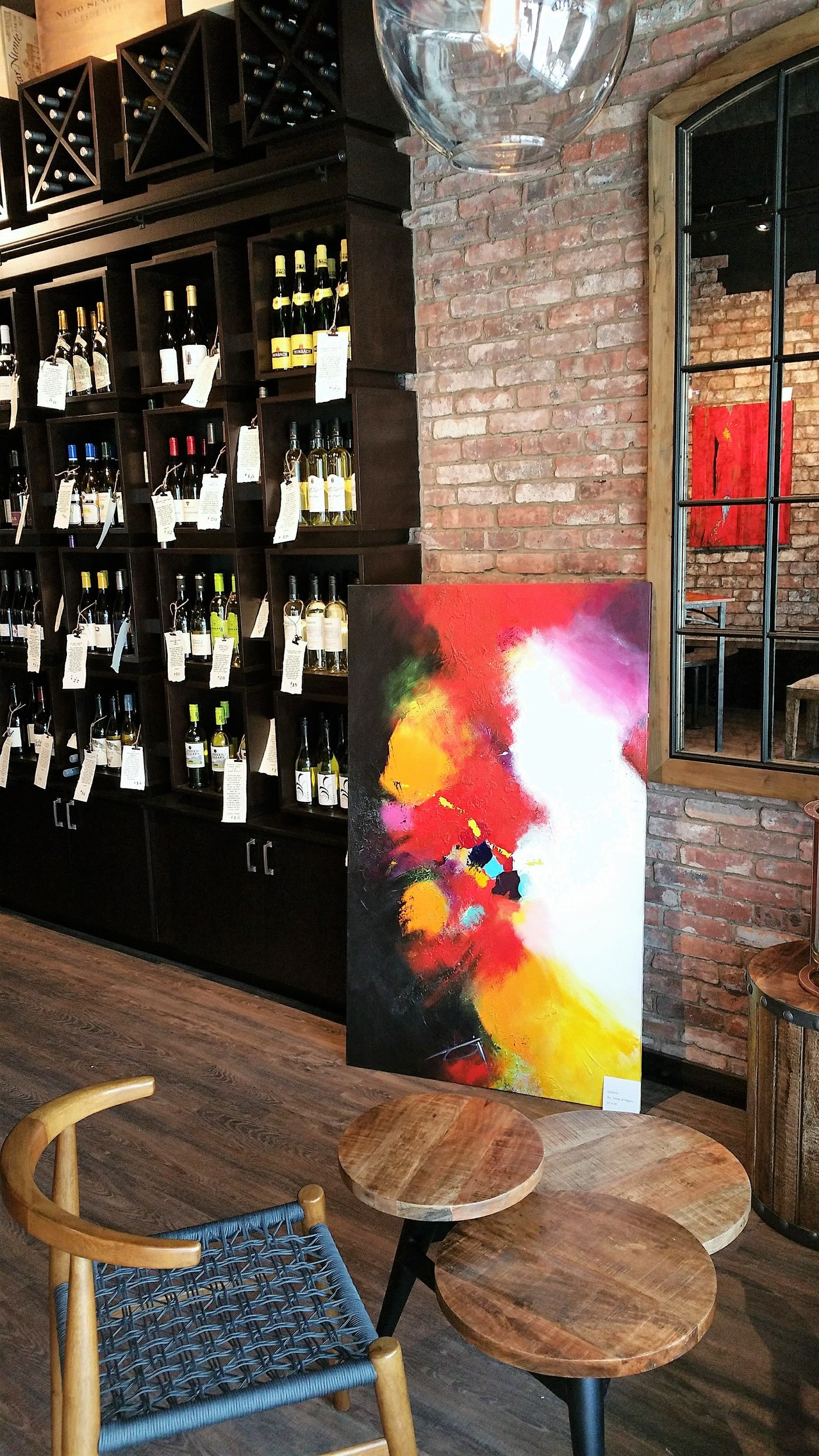 Ponte Vedra residents visited Coastal Wine Market & Tasting Room in Nocatee Nov. 12 to view the art of expressionist artist Jonay di Ragno.