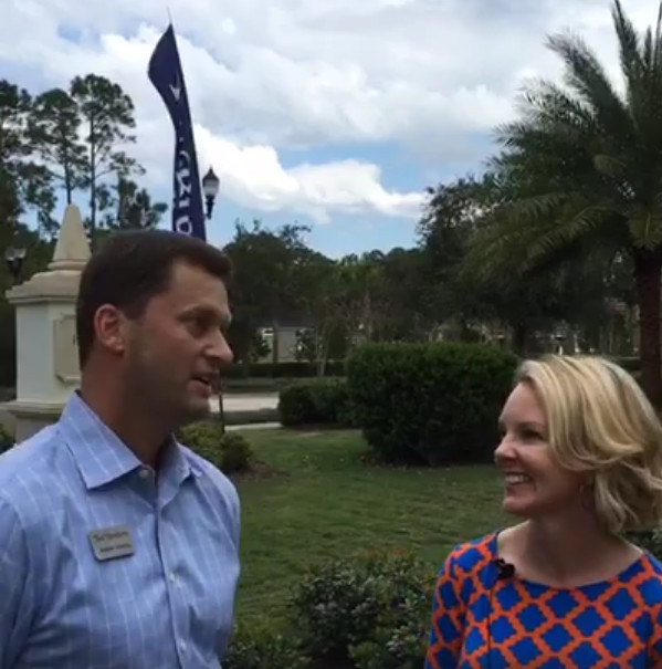 Heather Douglas conducts tours of Nocatee to help prospective homeowners learn about the community's amenities.