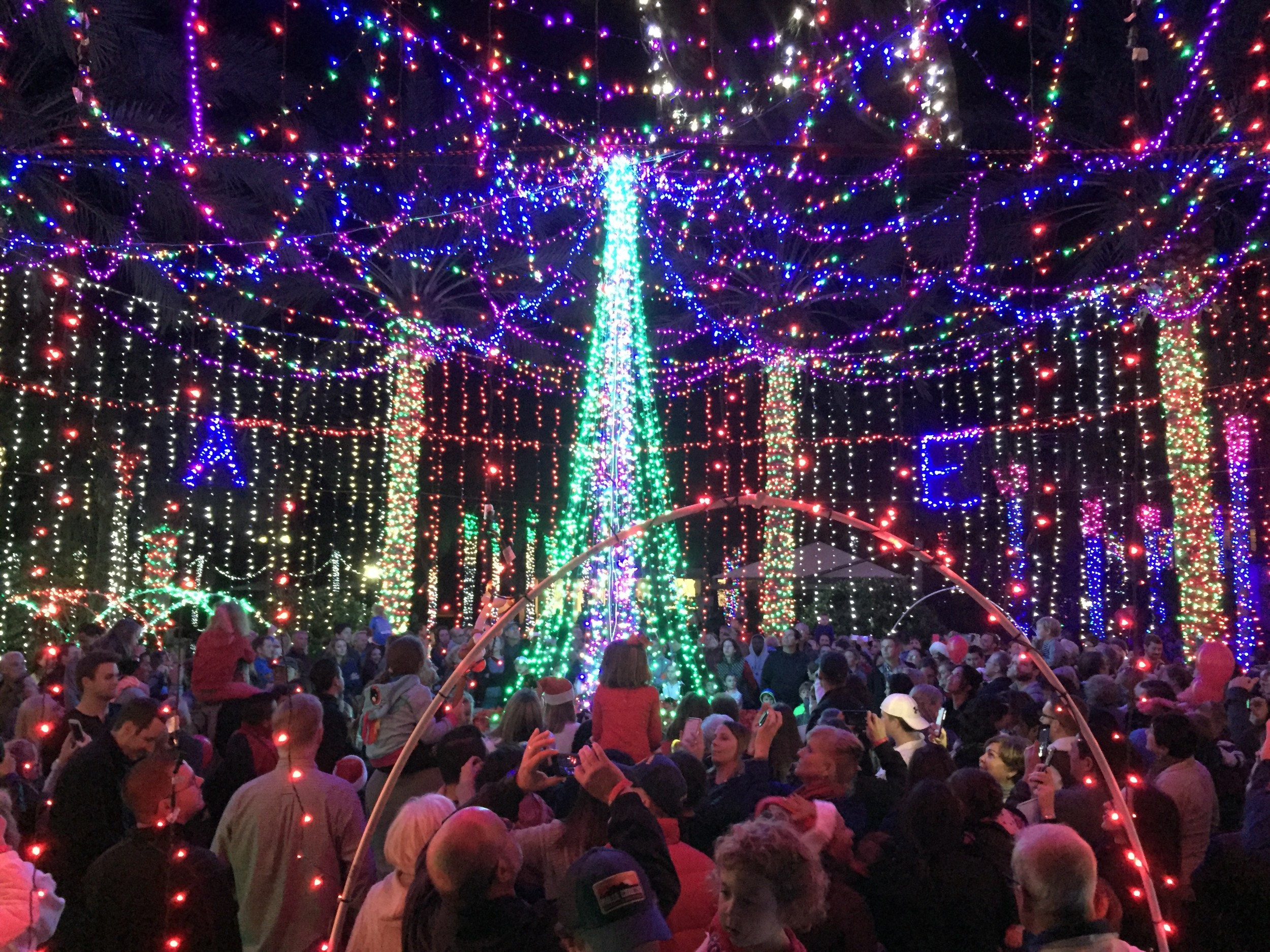 Nocatee residents celebrate the holiday season by taking in the lights at Nocatee-A-Glow.