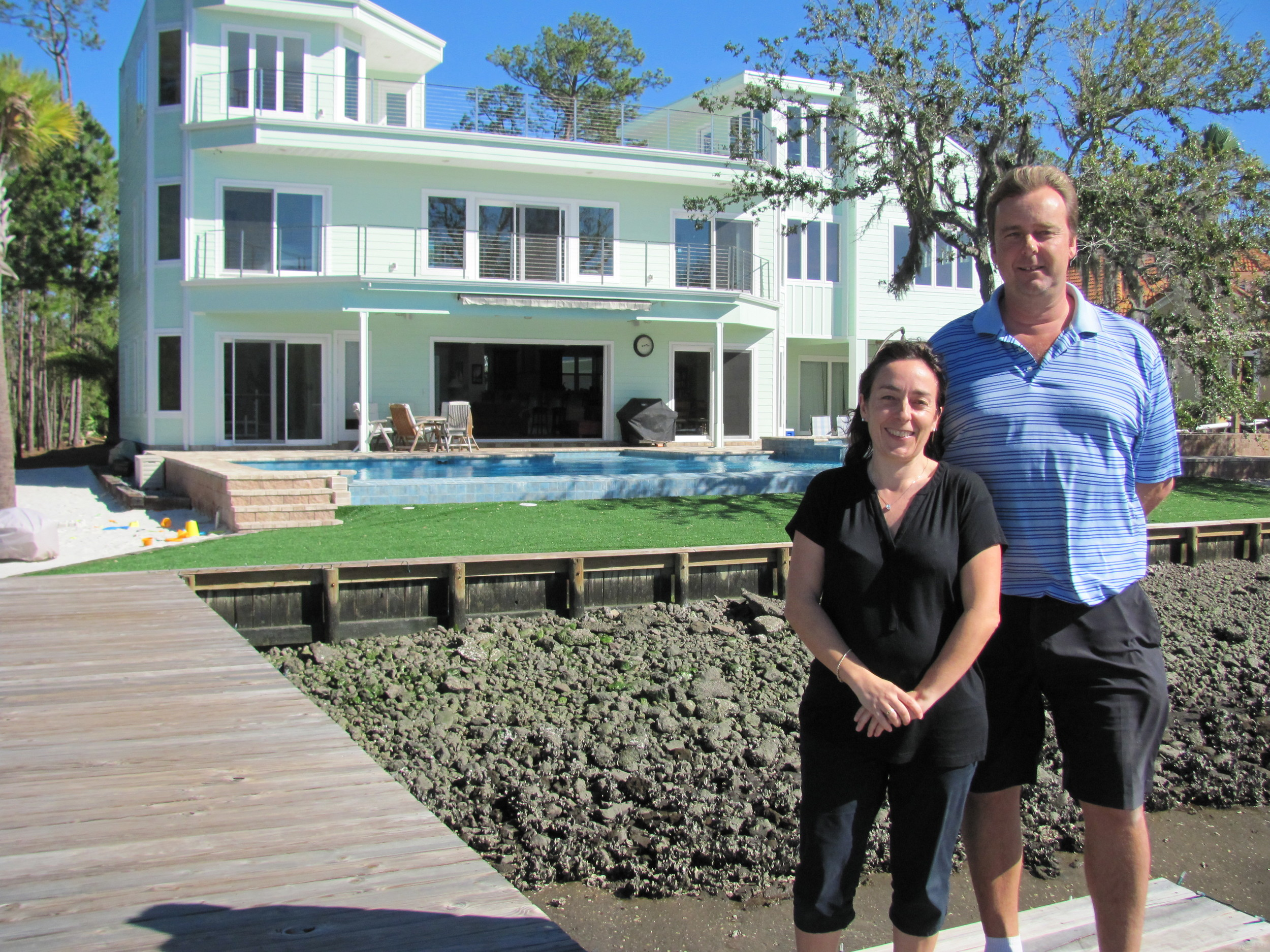 Power Tee founders Clare and Martin Wyeth at their Ponte Vedra home on North Roscoe Boulevard