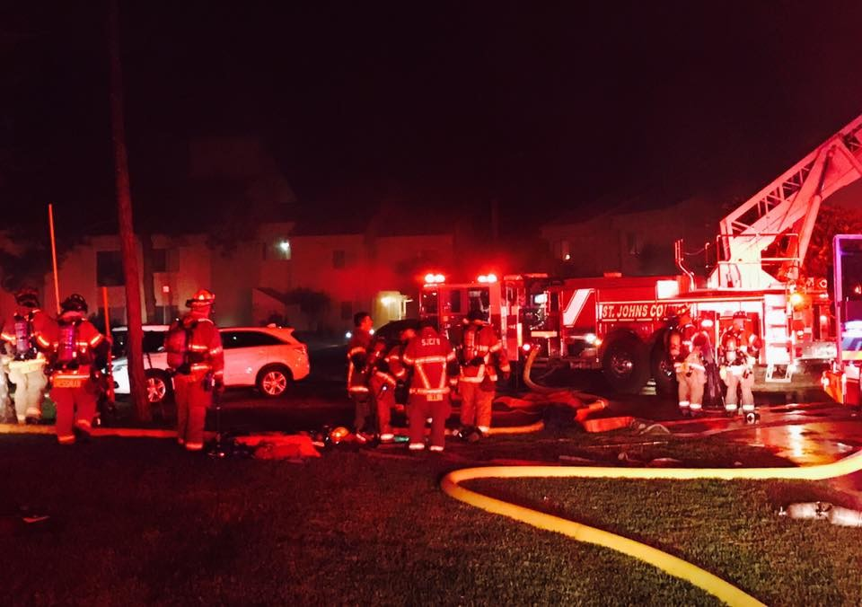 The fire occurred in a multi-unit apartment building off Tifton Way North.