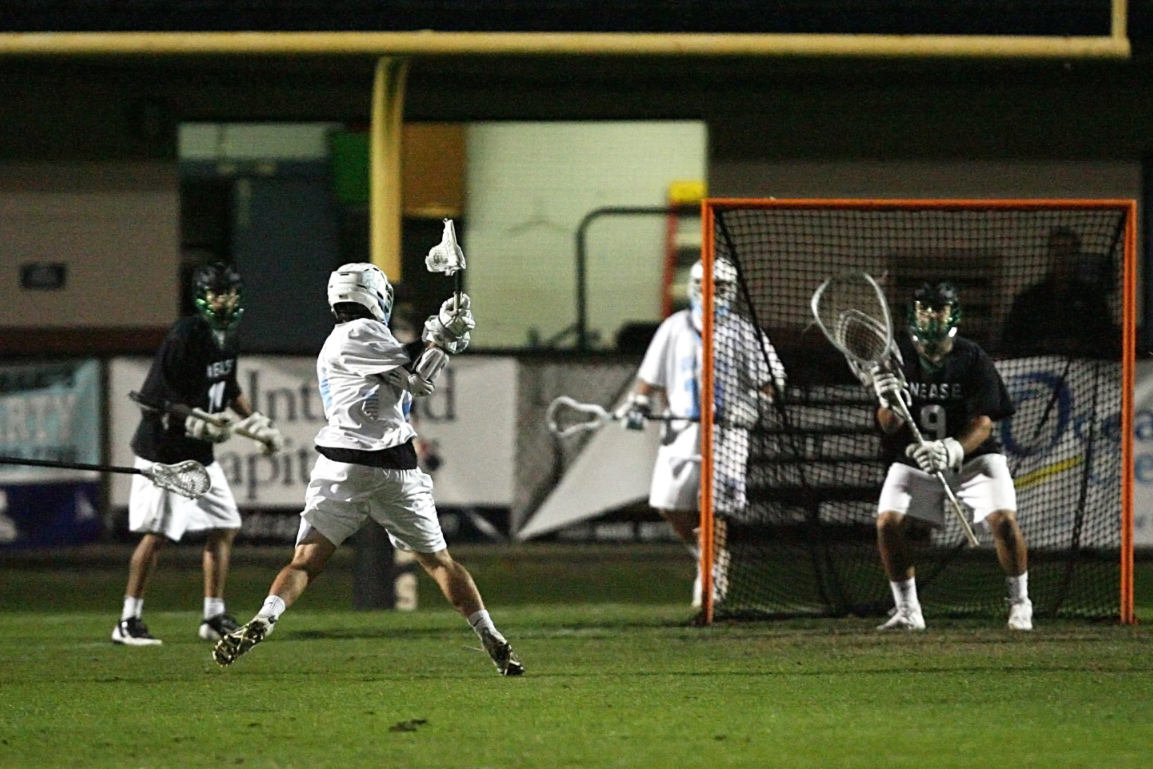 Ponte Vedra's Matt Keeler shoots and scores for the Sharks.