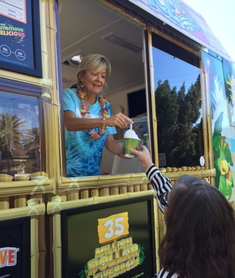 Author Abby Vega on her sno-cone truck