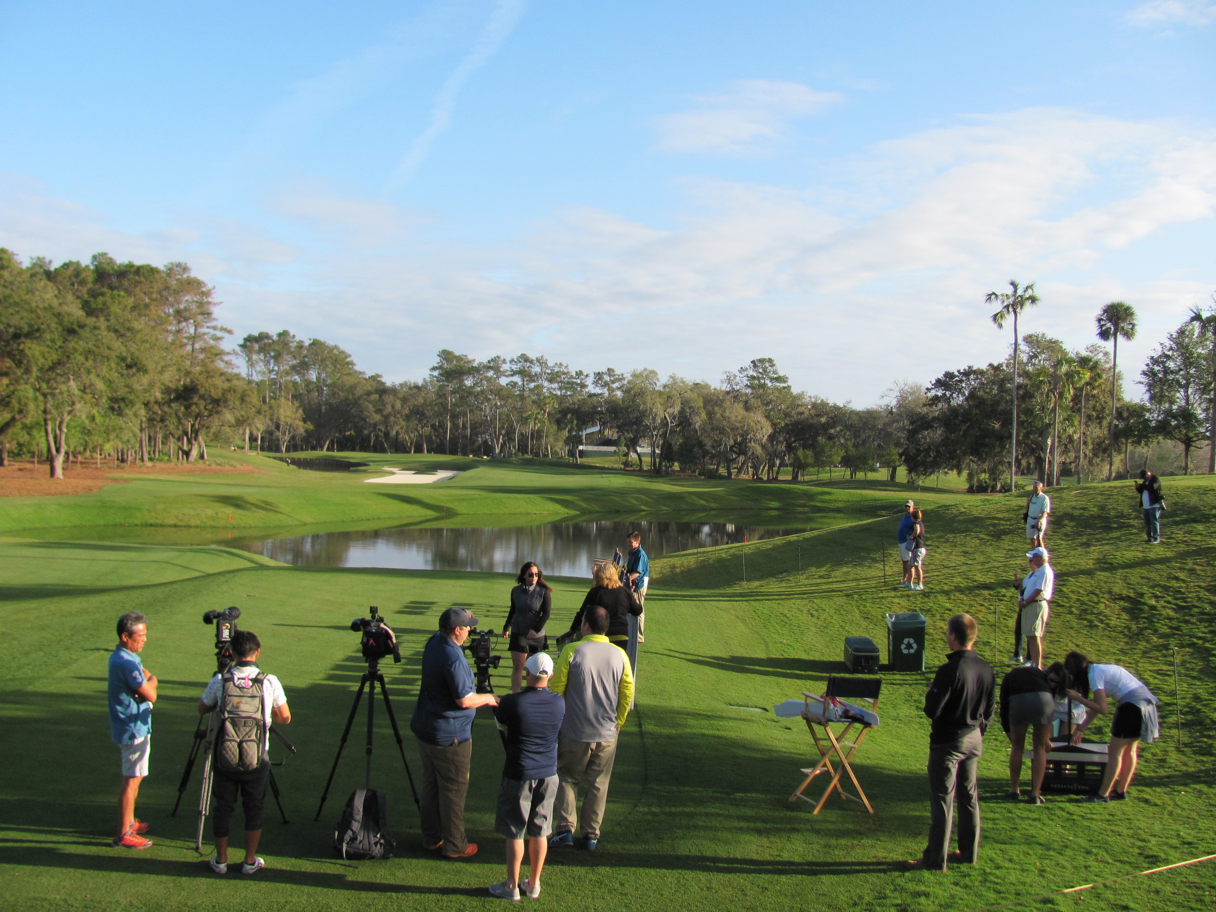 THE PLAYERS Championship showcases the redesigned, drivable par four 12th hole during the Feb. 7 Charity Challenge and media session that followed