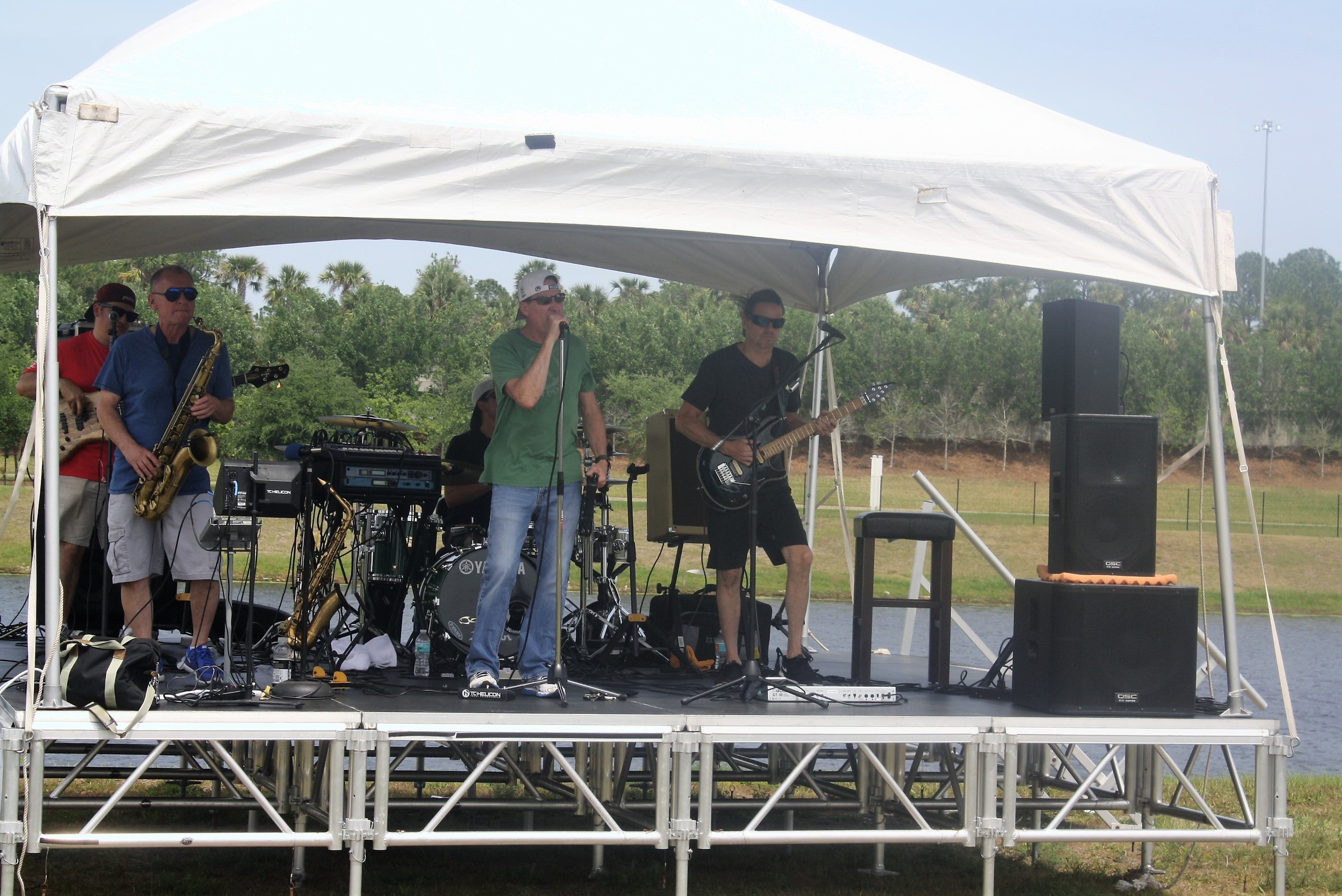The Paul Lundgren Band entertains guests at the Nocatee Farmers Market.