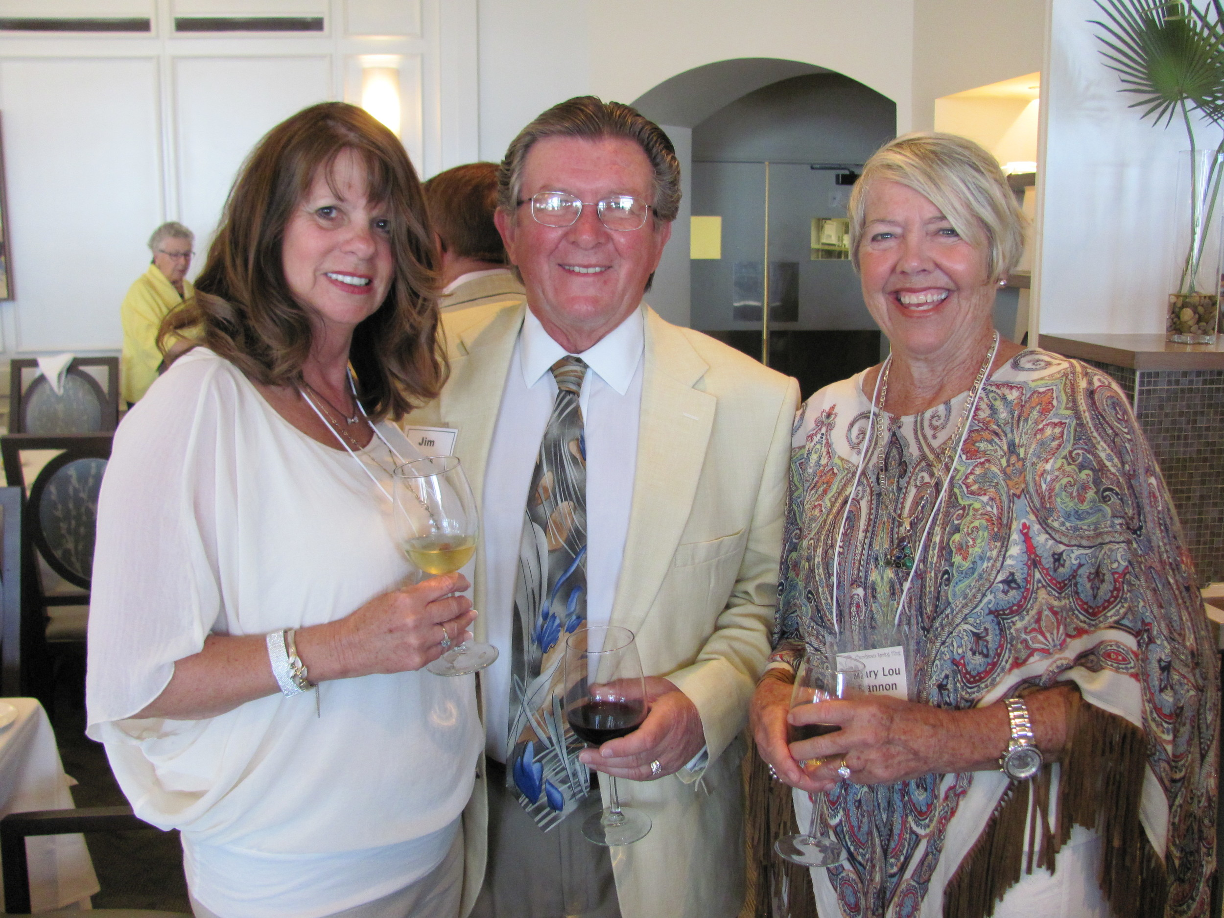 Deborah and Jim Ross and Mary Lou Bannon