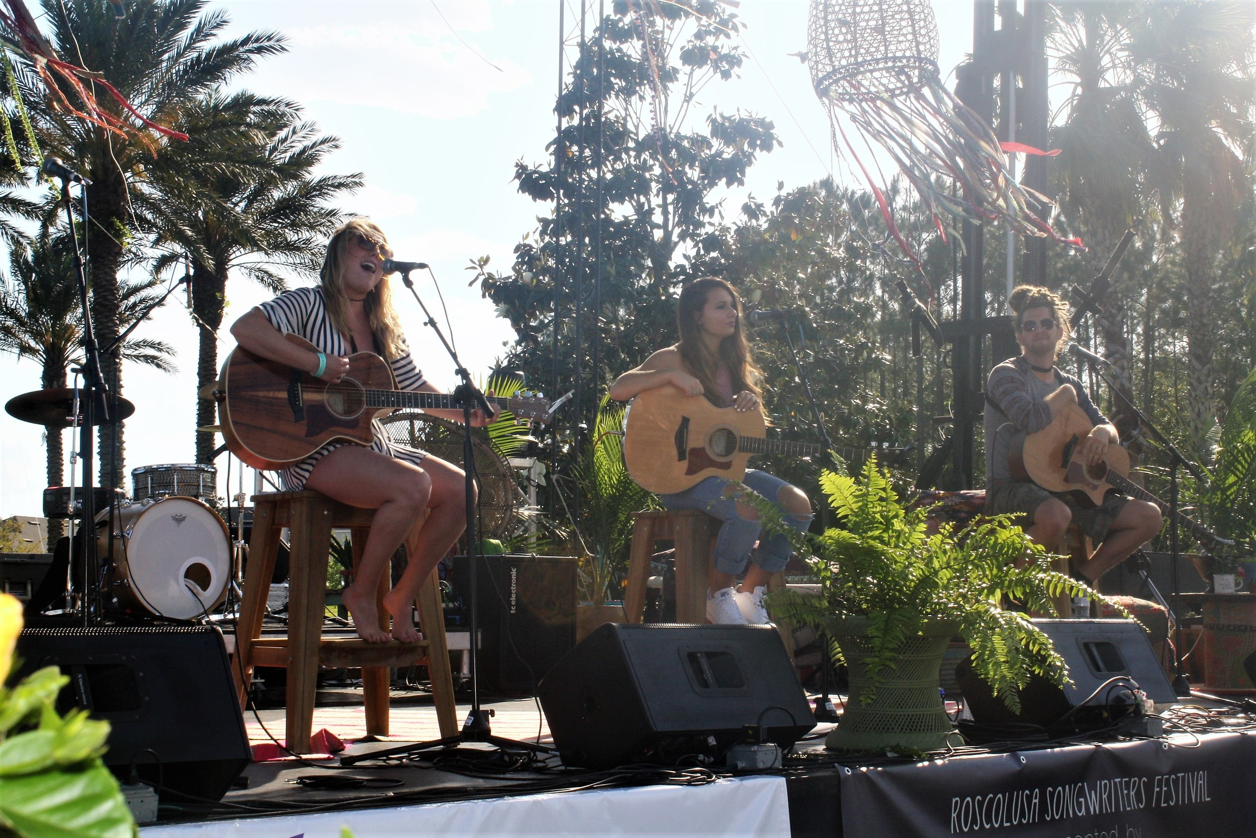 Casey Weston, Kaylee Rose and Tylor Bailey perform at the 6th Annual Roscolusa Songwriters Festival, held April 22 in Nocatee.