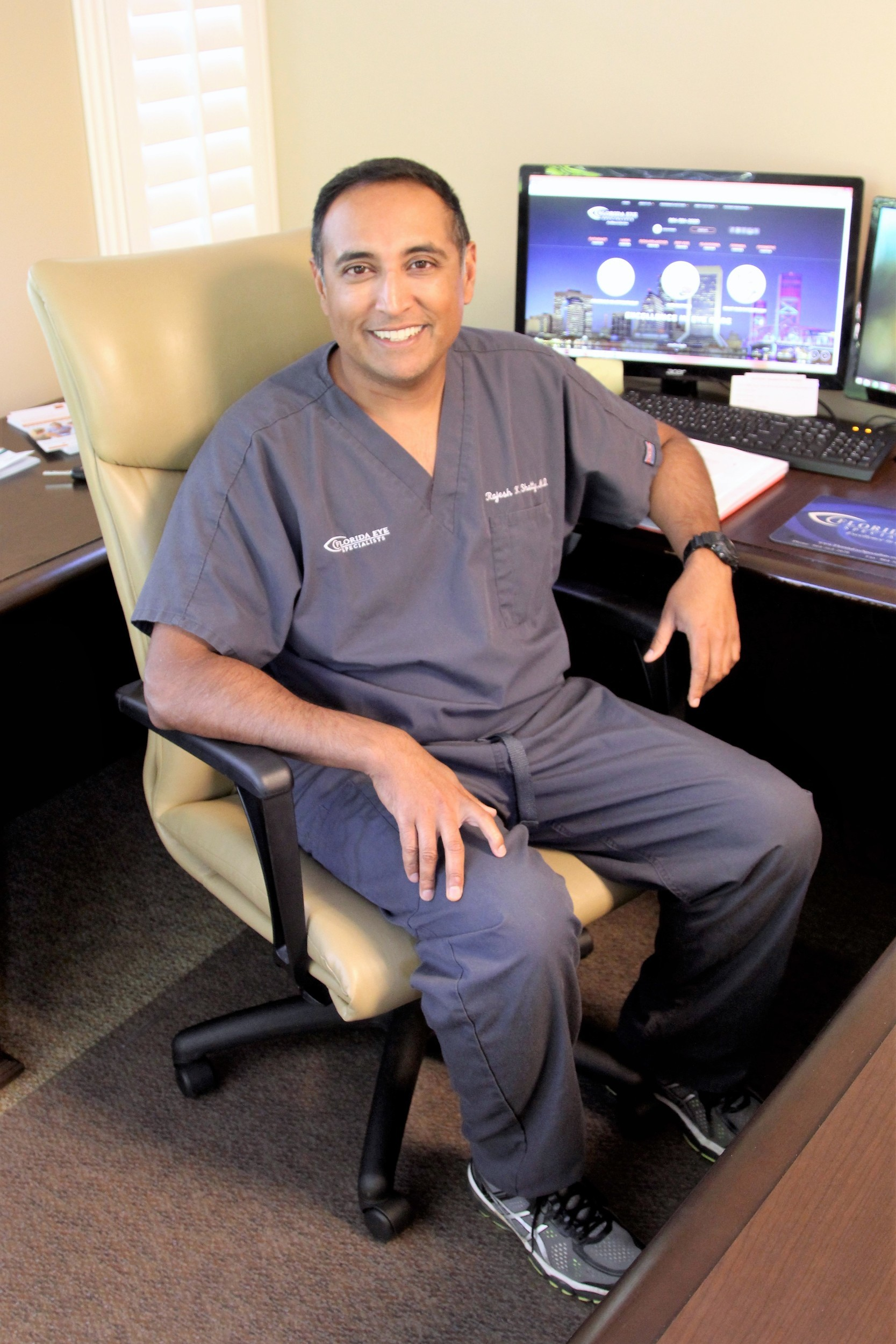 Dr. Rajesh Shetty, an ophthalmologist at Florida Eye Specialists.