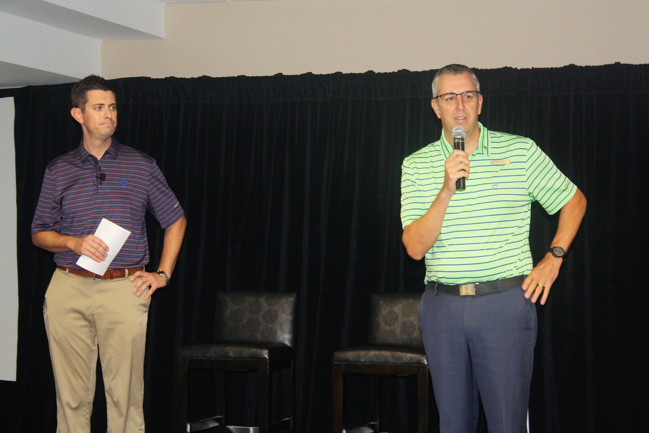 FCA Golf Jax Director Matt Roop and Sawgrass Marriott General Manager Todd Hickey