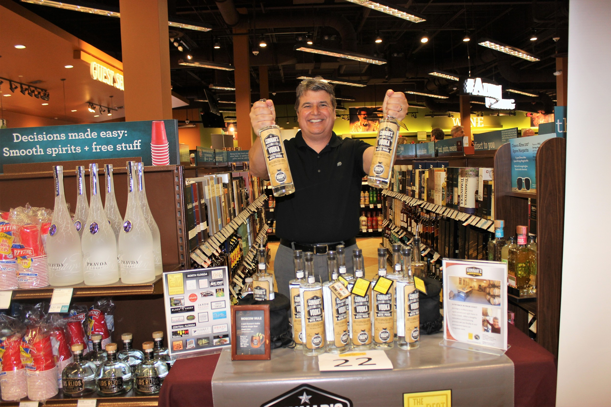 Gunnar's Distilling Company of Palm Coast was among the vendors participating in the event.