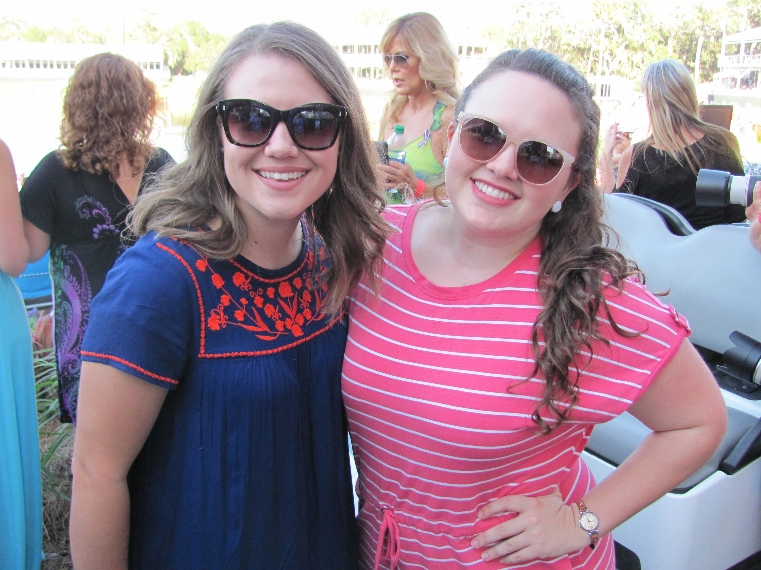 Kori Withers and Megan Fowler enjoy the military appreciation ceremony and Sam Hunt concert.