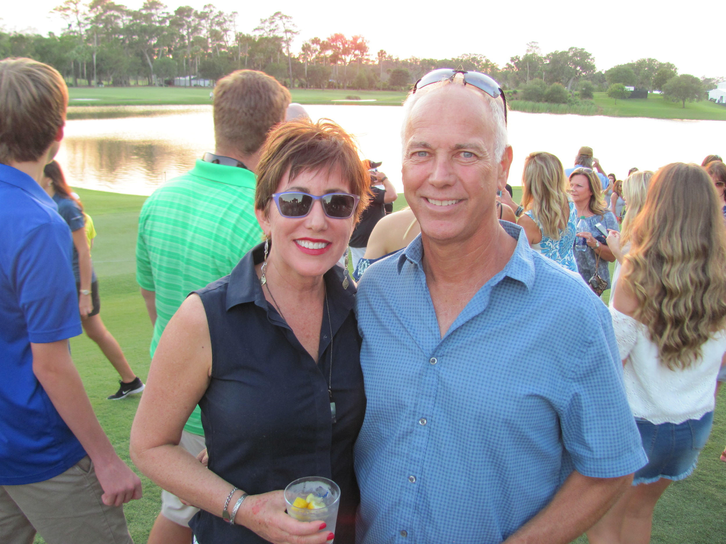 Eileen and John Alexon enjoy walking TPC Sawgrass after the military appreciation ceremony and Sam Hunt concert.